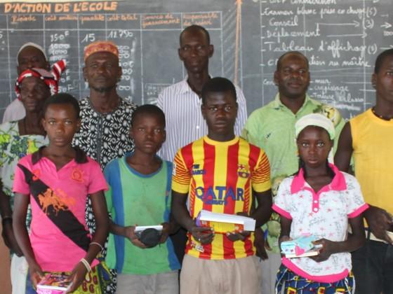 Enfants parrainés en 2014 au Burkina