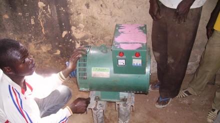 Installation de l'électricité à Nungu